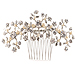 Bridal Headpiece - Floral Hair Comb - Wedding Comb with Pearl and Rhinestone - Beautiful Girl