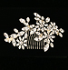 Bridal crystal headpiece - Vintage floral look - Hair comb - Style Rosaline Wedding Hair Ornament