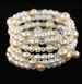 Pearl & Crystal Coil Bracelet