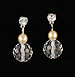  Bridal earrings - Crystal earrings - Wedding accessories - Style Modern Love Bridal Earrings